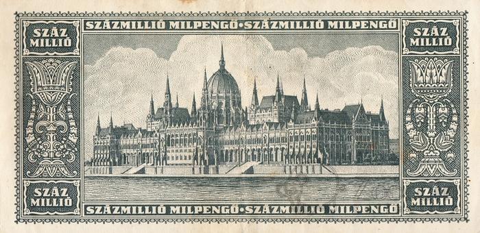 Венгрия 100.000.000 пенго 1946.