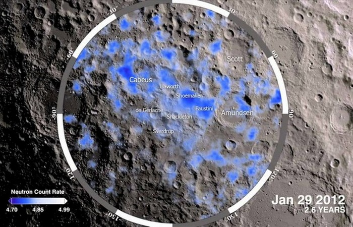 В затененных кратерах есть замороженная вода.