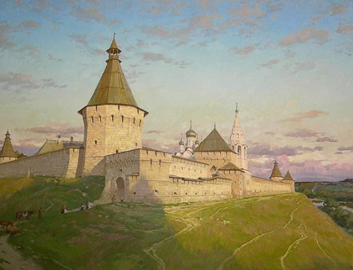 Серпуховский Кремль на картине Николая Бурдыкина.
