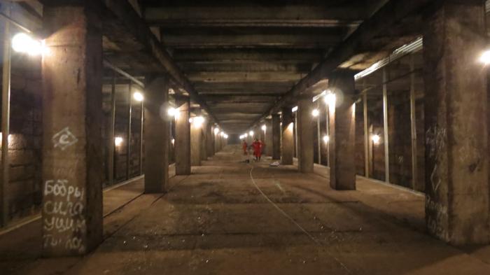 Законсервированная станция метро.