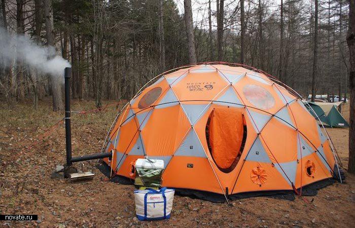 Туристическая палатка для отдыха с комфортом.