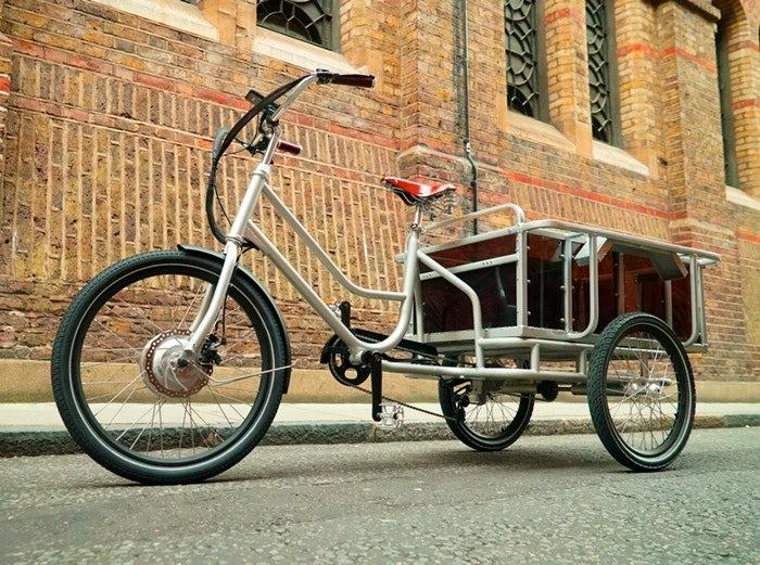 Велосипед для перевозки груза и детей.