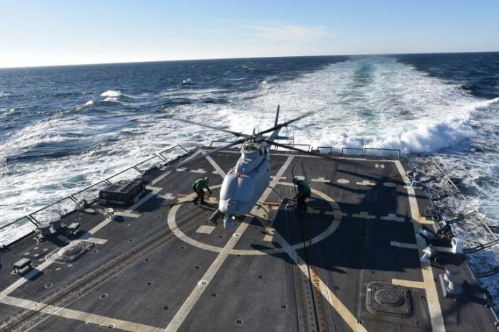 Вертолет-беспилотник MQ-8C Fire Scout.