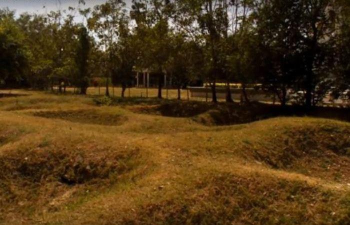 Куполообразные земляные насыпи Камбоджи.