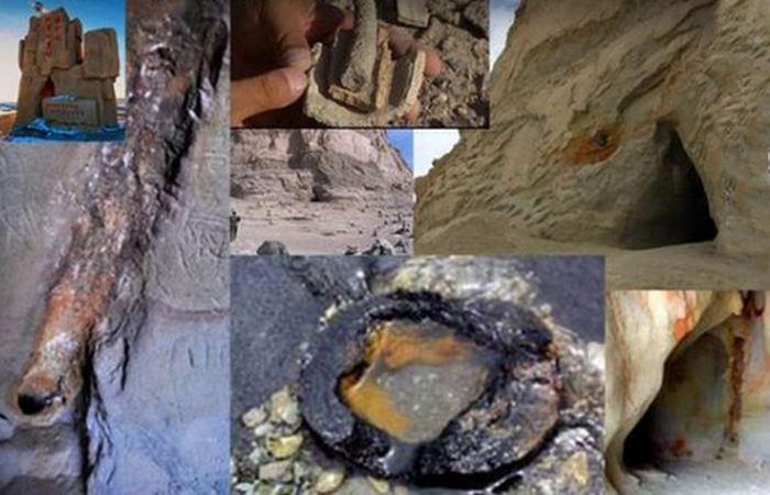 Многочисленные трубы внутри пещер.