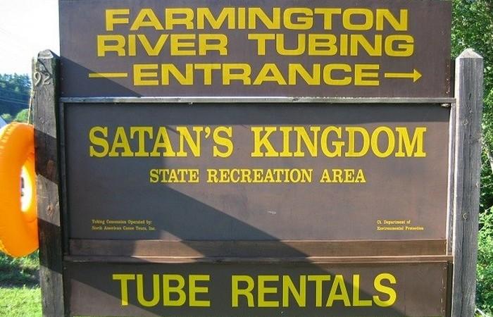 Два города в США (в штатах Вермонт и Массачусетс) называются Королевство сатаны.