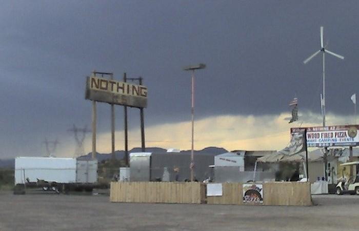 Поселок Ничто в штате Аризона, США.