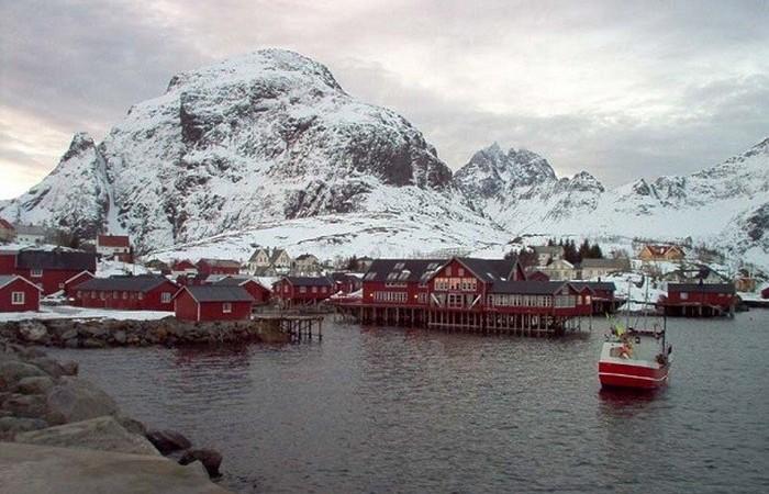 Å - деревня на самом севере Норвегии.
