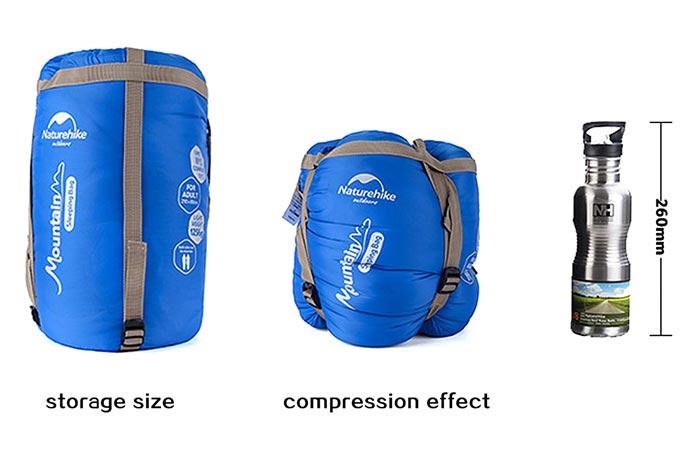 Naturehike Sleeping Bag удобен в хранении и транспортировке.