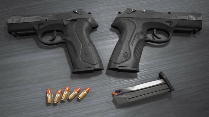 Новейший пистолет.  Фото: wallpaperset.com.