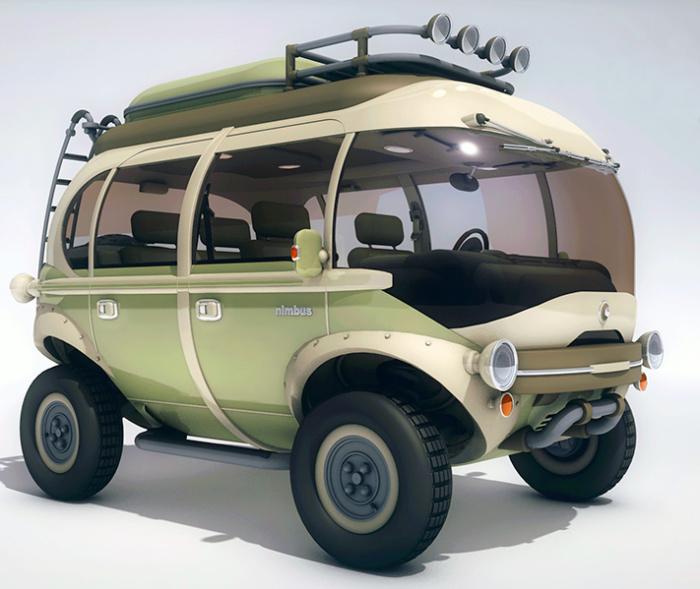 Nimbus E-Car - автобус на электродвигателе.