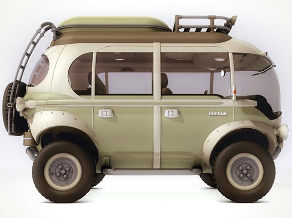 Стильный электромобиль для семейных поездок.