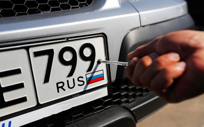 Внутри страны номера регулируются ГОСТом. |Фото: auto.mail.ru.