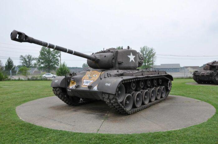 Часть технических решений Т28 перекочевала в средний танк Першинг. |Фото: Pinterest.
