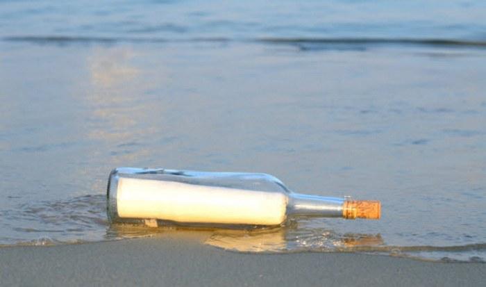 Сообщение в бутылке.