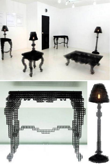 Мебель с размытыми очертаниями.