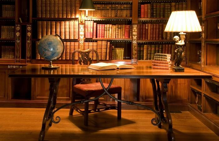 Просто роскошь: домашняя библиотека.