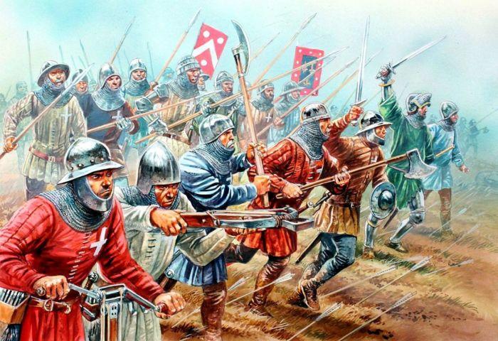 Значение пехоты начало расти еще до Столетней войны. |Фото: 1zoom.ru.