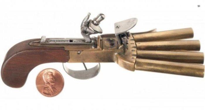 Такой пистолет использовался тюремщиками.