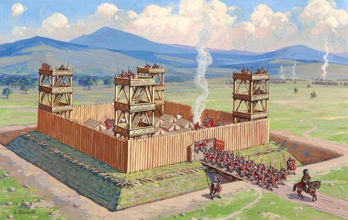 Римляне понимали важность фортификаций. |Фото: tr.pinterest.com.