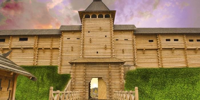 Главный порок деревянной крепости в том, что она отлично горит. |Фото: promum.com.ua.