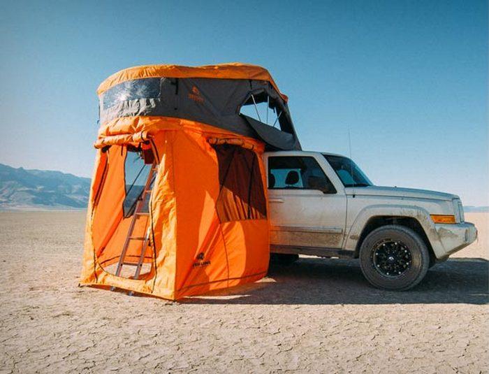 Двухэтажная палатка.