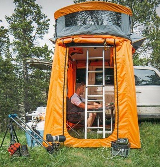 Палатка Treeline Outdoors с верандой.