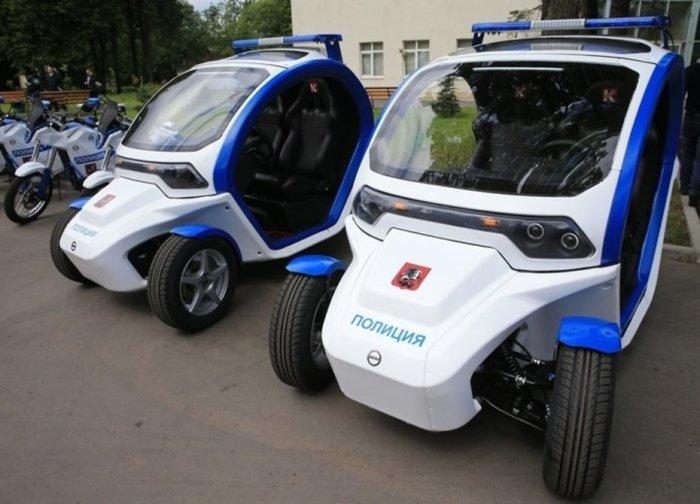 Первый вариант электромобиля. |Фото: defendingrussia.ru.