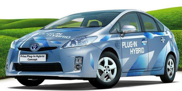 Гибридный Toyota Prius.