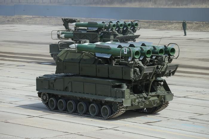 Зенитный ракетный комплекс Бук-М2.