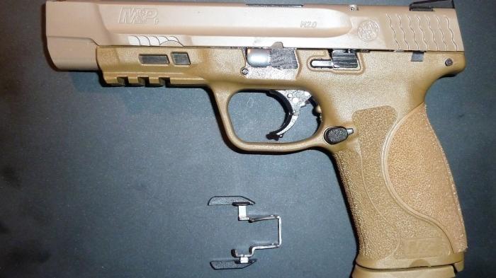Надежный пистолет.