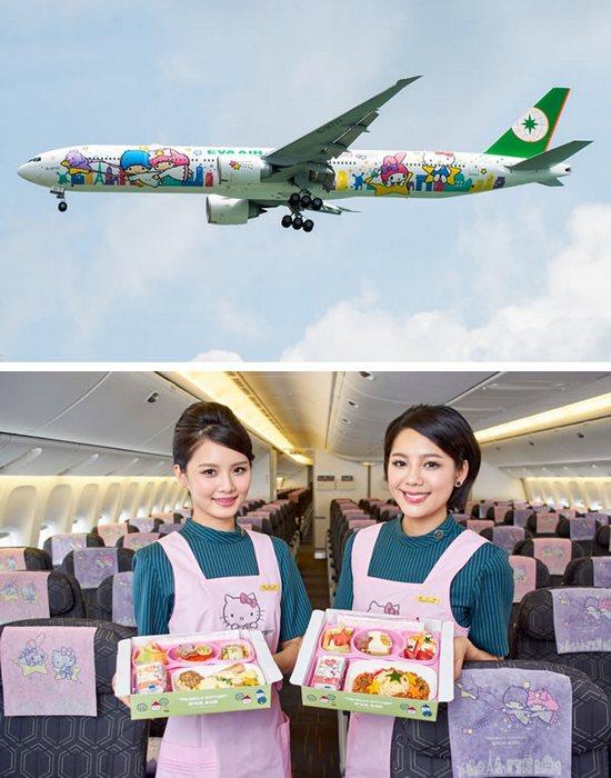 Разукрашенный самолет «Hello Kitty».