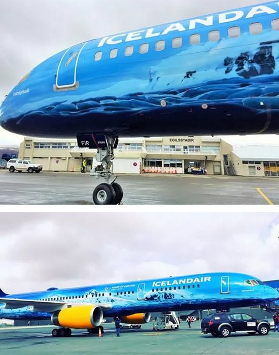 Разукрашенный самолет «Ледник».