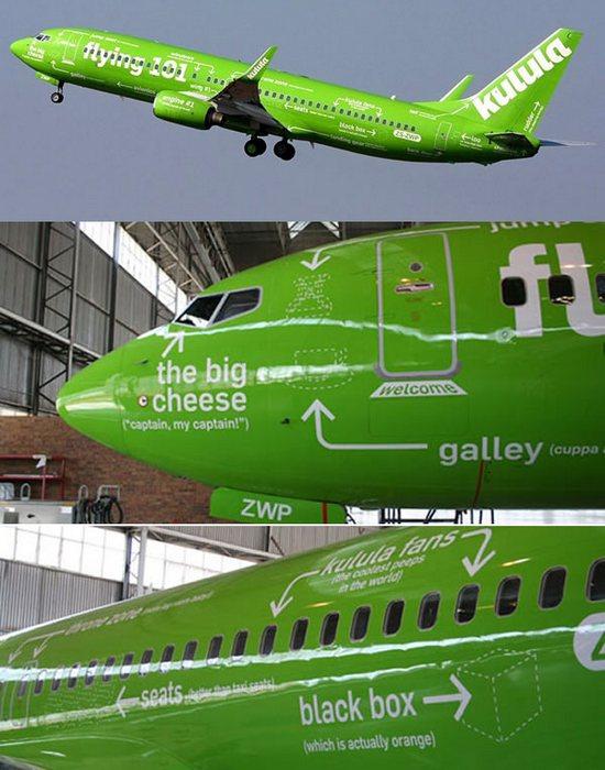 Разукрашенный самолет «Flying 101».