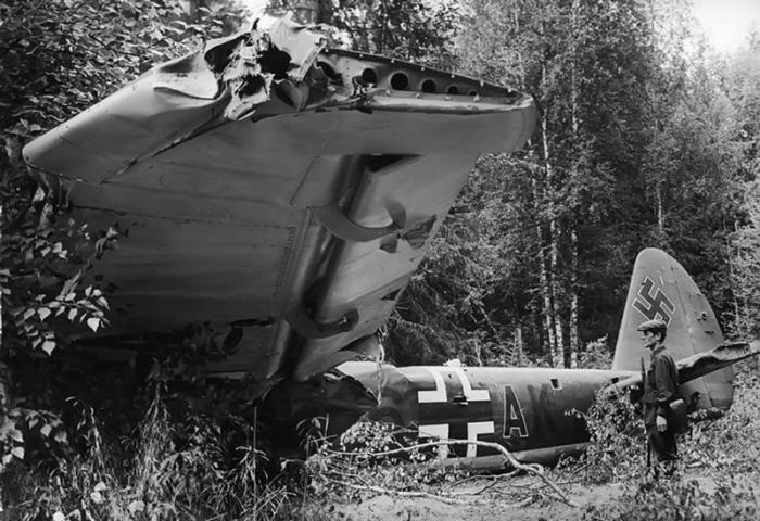 Сбитый Junkers Ju 88A-5.