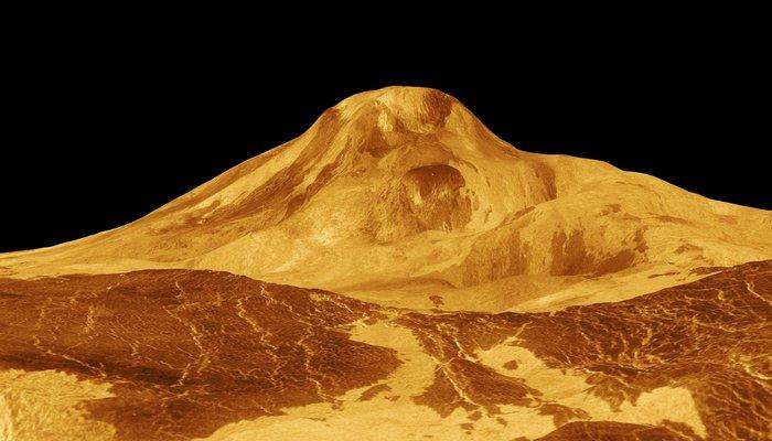 Один из вулканов Венеры.