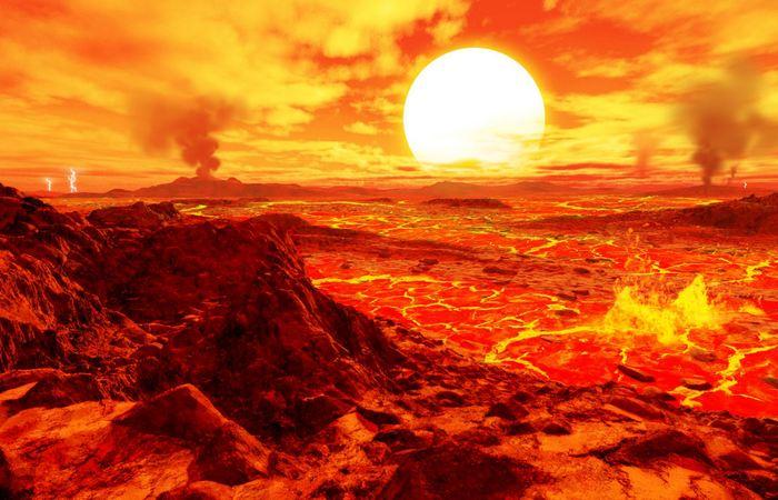 Утренний пейзаж на Венере.