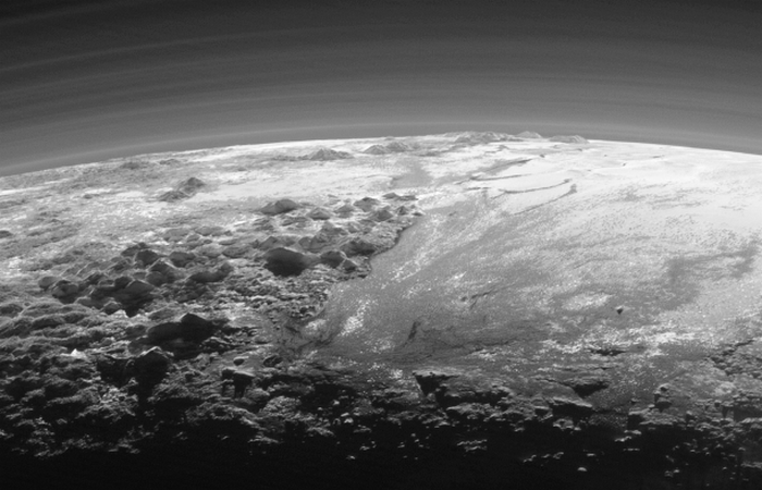 Фотоснимки Плутона: закат 14.06.2015г.