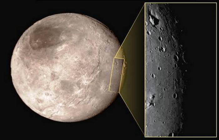 Фотоснимки Плутона: впадина с пиком в центре.