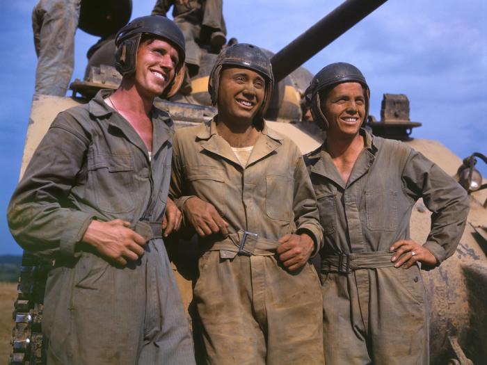 Американские танкисты в шлемах. |Фото: vk.com.