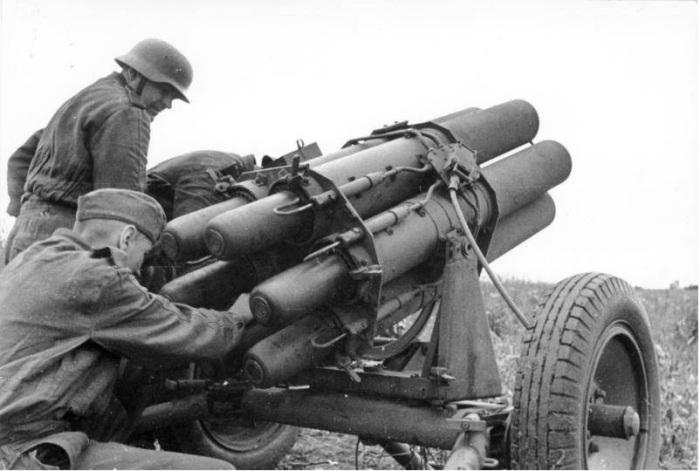 До войны в Германии РСЗО делались главным образом для доставки дымовых и химических снарядов. ¦Фото: relicsww2.net.