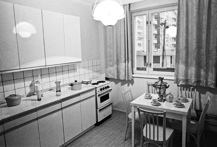 Советский минимализм. |Фото: postel-deluxe.ru.
