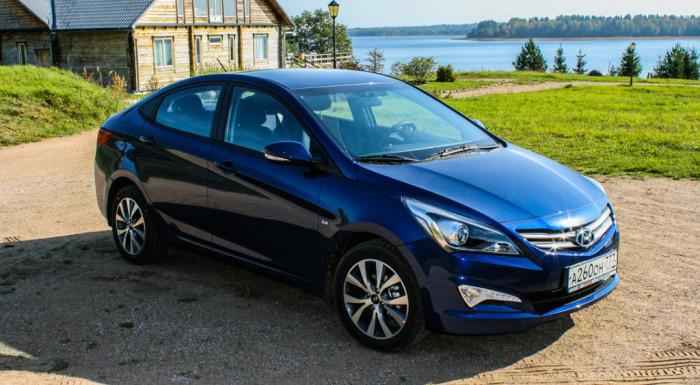Пользуется спросом Hyundai Solaris.