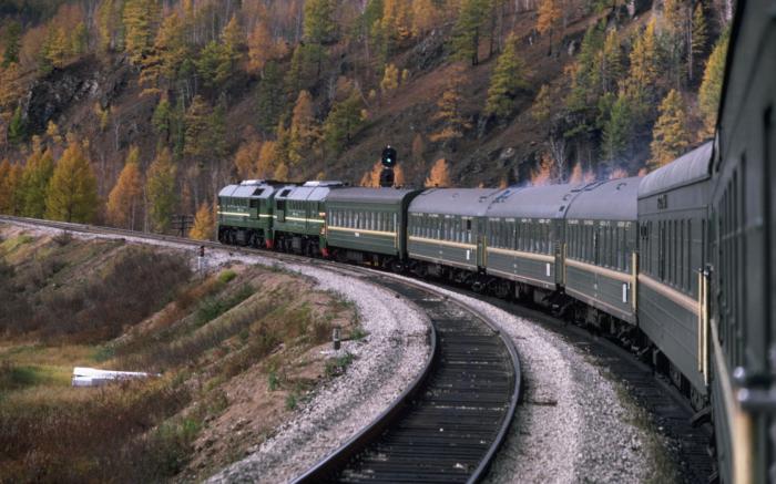 Поезд как будто соскальзывает. |Фото: rail-club.ru.