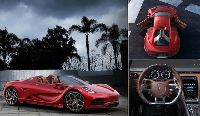 Концепт суперкара Porsche с дизайном от создателя моделей для Матрицы.