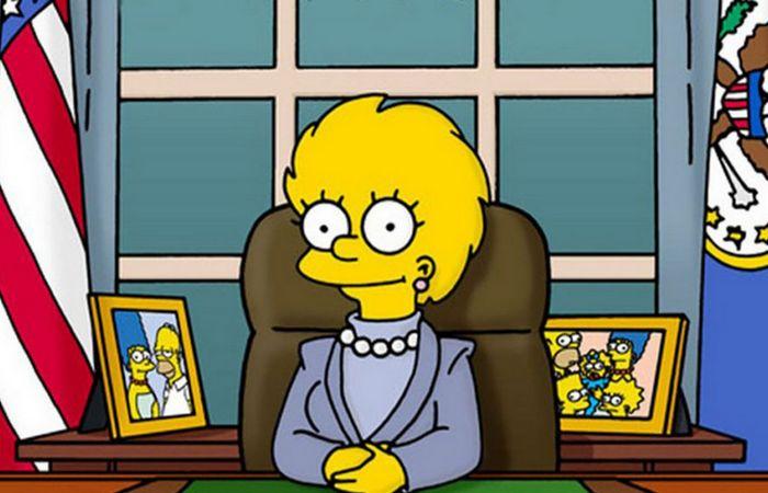 """Симпсоны предсказали президентство Трампа в 2000 году. Эпизод """"Барт в будущем""""."""