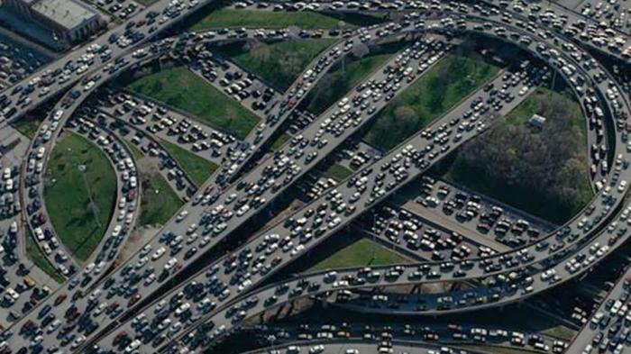 Огромные пробки. |Фото: houstoniamag.com.