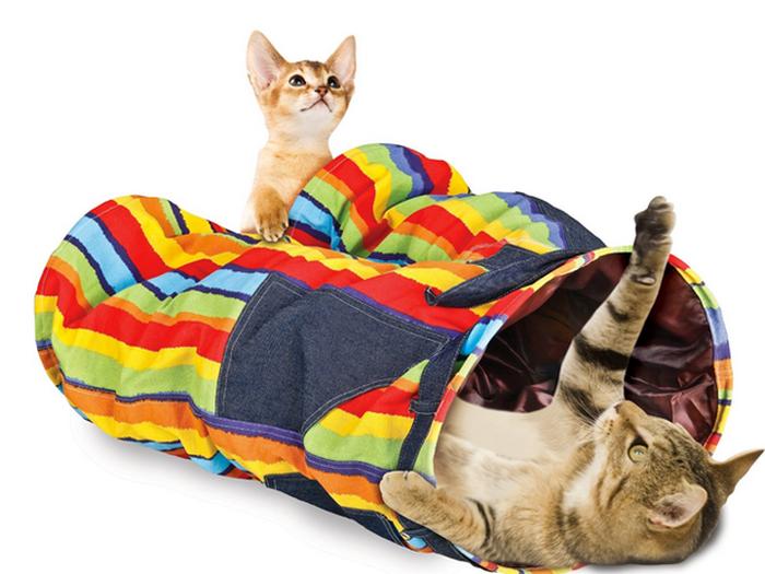 Сумасшедшие брюки-туннели для кошек.