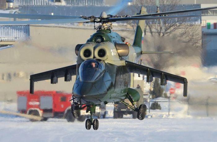 Машина создана на базе Ми-24.