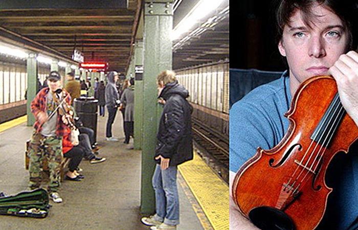 Джош Белл в метро.